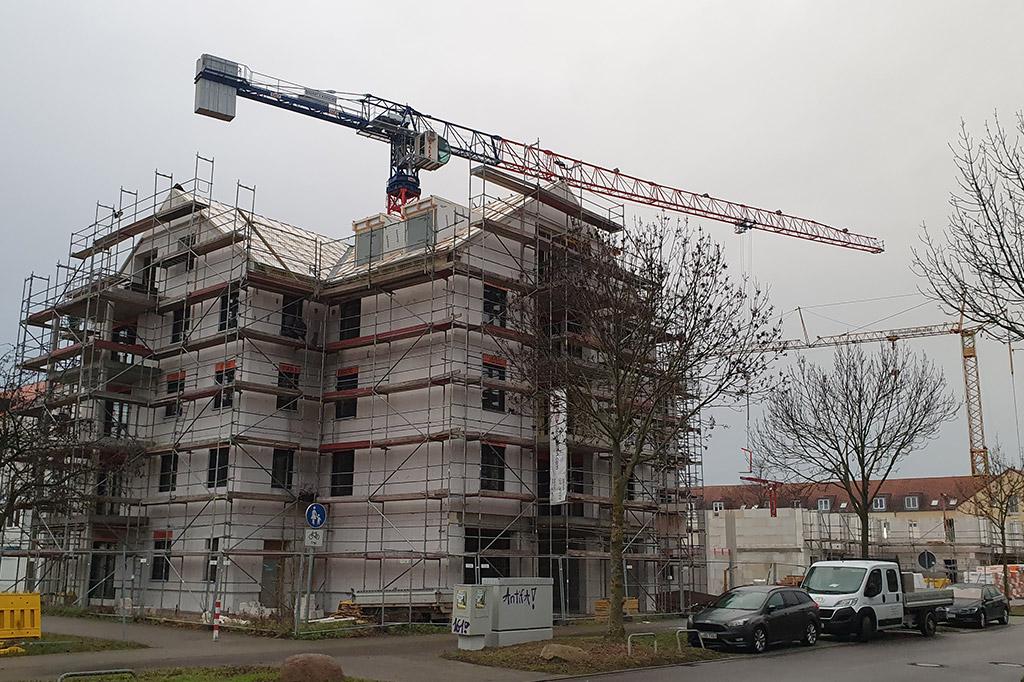 Der-Rohbau-des-2.Baukörper-wächst-–-DIE-HOFGÄRTEN-Bauabschnitt-II-–-in-Leipzig-–-Lausen